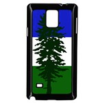 Flag of Cascadia Samsung Galaxy Note 4 Case (Black) Front