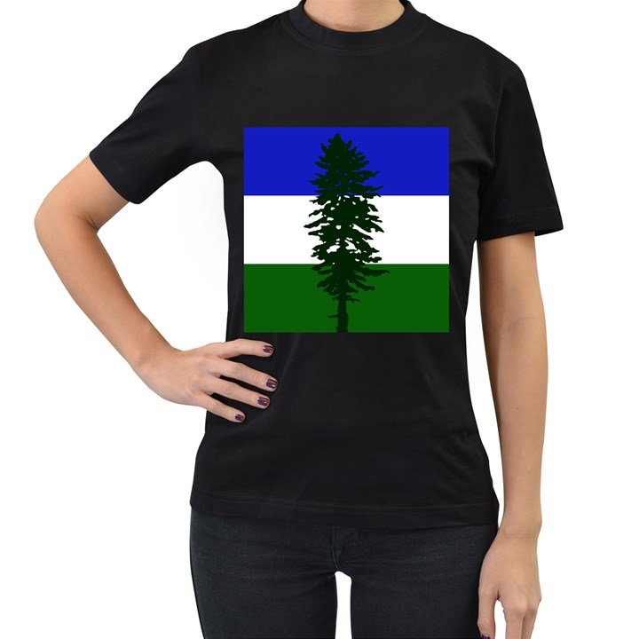 Flag of Cascadia Women s T-Shirt (Black)