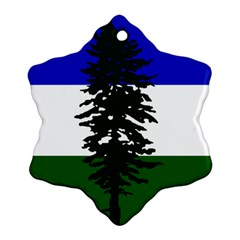 Flag Of Cascadia Snowflake Ornament (two Sides) by abbeyz71