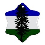 Flag of Cascadia Snowflake Ornament (Two Sides) Back