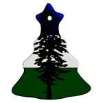 Flag of Cascadia Christmas Tree Ornament (Two Sides) Back