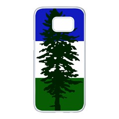 Flag Of Cascadia Samsung Galaxy S7 Edge White Seamless Case by abbeyz71
