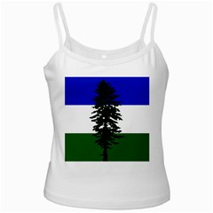 Flag Of Cascadia White Spaghetti Tank