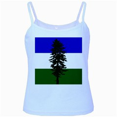 Flag Of Cascadia Baby Blue Spaghetti Tank by abbeyz71