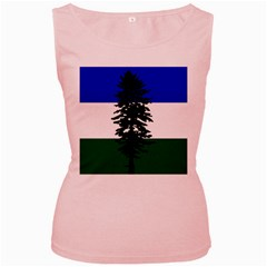 Flag Of Cascadia Women s Pink Tank Top by abbeyz71