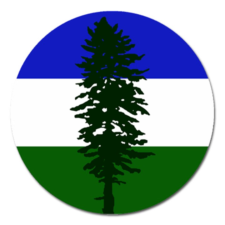 Flag of Cascadia Magnet 5  (Round)