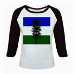 Flag of Cascadia Kids Baseball Jerseys Front