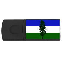 Flag Of Cascadia Rectangular Usb Flash Drive by abbeyz71