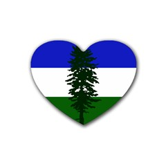 Flag Of Cascadia Rubber Coaster (heart)  by abbeyz71