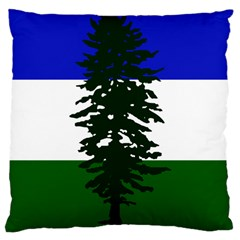 Flag Of Cascadia Large Cushion Case (two Sides) by abbeyz71