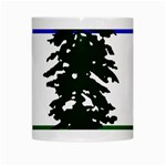 Flag of Cascadia White Mugs Center