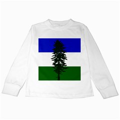 Flag Of Cascadia Kids Long Sleeve T Shirts