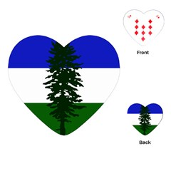 Flag Of Cascadia Playing Cards (heart)  by abbeyz71