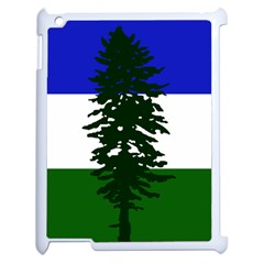 Flag Of Cascadia Apple Ipad 2 Case (white) by abbeyz71