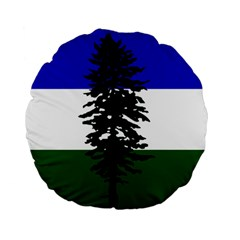 Flag Of Cascadia Standard 15  Premium Flano Round Cushions by abbeyz71