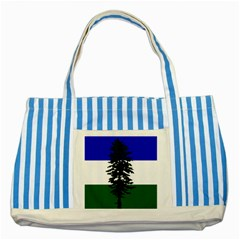 Flag Of Cascadia Striped Blue Tote Bag by abbeyz71