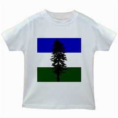 Flag 0f Cascadia Kids White T Shirts by abbeyz71