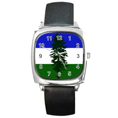 Flag 0f Cascadia Square Metal Watch by abbeyz71