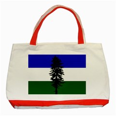 Flag 0f Cascadia Classic Tote Bag (red) by abbeyz71
