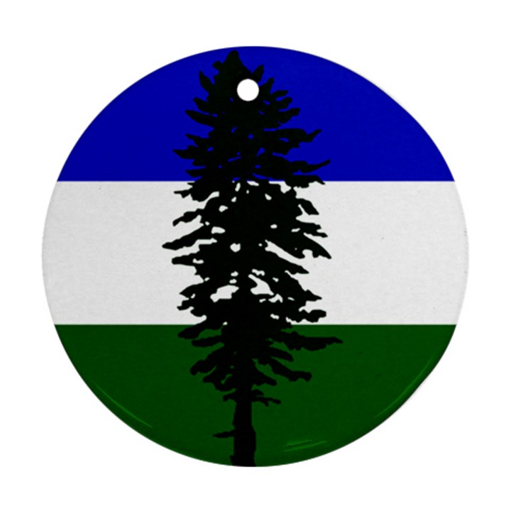Flag 0f Cascadia Round Ornament (Two Sides)