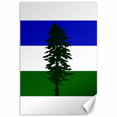 Flag 0f Cascadia Canvas 12  X 18   by abbeyz71