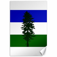 Flag 0f Cascadia Canvas 24  X 36  by abbeyz71