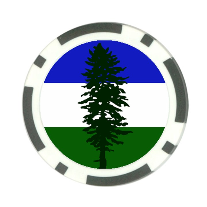 Flag 0f Cascadia Poker Chip Card Guard
