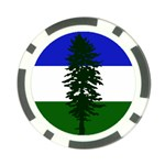 Flag 0f Cascadia Poker Chip Card Guard Back