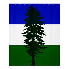 Flag 0f Cascadia Shower Curtain 60  X 72  (medium)  by abbeyz71