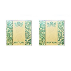 Art Nouveau Green Cufflinks (square) by 8fugoso