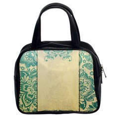 Art Nouveau Green Classic Handbags (2 Sides) by 8fugoso