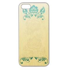 Art Nouveau Green Apple Seamless Iphone 5 Case (clear) by 8fugoso