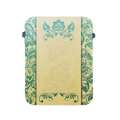 Art Nouveau Green Apple Ipad 2/3/4 Protective Soft Cases by 8fugoso