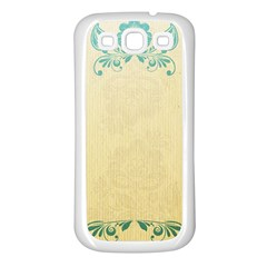 Art Nouveau Green Samsung Galaxy S3 Back Case (white) by 8fugoso
