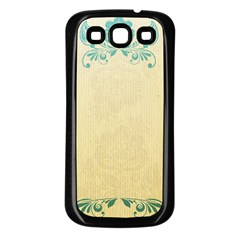 Art Nouveau Green Samsung Galaxy S3 Back Case (black) by 8fugoso