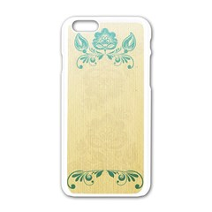 Art Nouveau Green Apple Iphone 6/6s White Enamel Case by 8fugoso