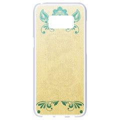 Art Nouveau Green Samsung Galaxy S8 White Seamless Case by 8fugoso