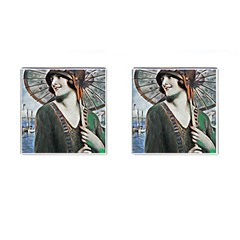 Lady Of Summer 1920 Art Deco Cufflinks (square) by 8fugoso
