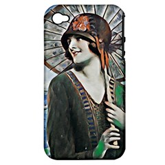 Lady Of Summer 1920 Art Deco Apple Iphone 4/4s Hardshell Case (pc+silicone) by 8fugoso