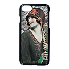 Lady Of Summer 1920 Art Deco Apple Iphone 8 Seamless Case (black) by 8fugoso