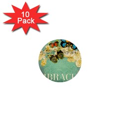 Embrace Shabby Chic Collage 1  Mini Buttons (10 Pack)  by 8fugoso