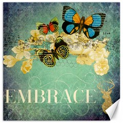 Embrace Shabby Chic Collage Canvas 12  X 12   by 8fugoso