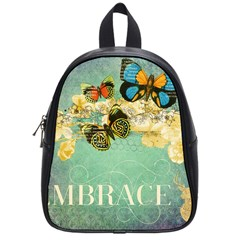 Embrace Shabby Chic Collage School Bag (small) by 8fugoso