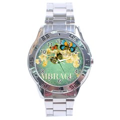 Embrace Shabby Chic Collage Stainless Steel Analogue Watch