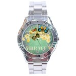 embrace shabby chic collage Stainless Steel Analogue Watch Front