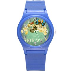 Embrace Shabby Chic Collage Round Plastic Sport Watch (s) by 8fugoso