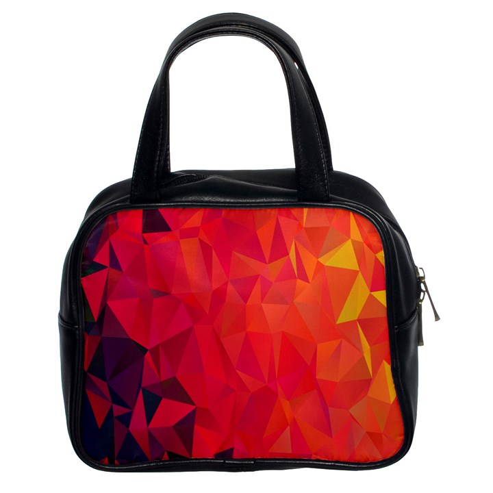 Triangle Geometric Mosaic Pattern Classic Handbags (2 Sides)
