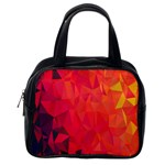 Triangle Geometric Mosaic Pattern Classic Handbags (2 Sides) Back