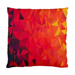 Triangle Geometric Mosaic Pattern Standard Cushion Case (one Side) by Nexatart