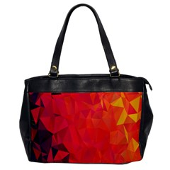 Triangle Geometric Mosaic Pattern Office Handbags